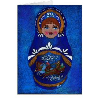 Russian doll card