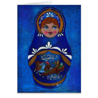Russian doll greeting card