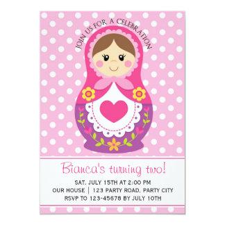 Russian Doll Invitation - Matryoshka Girl Birthday