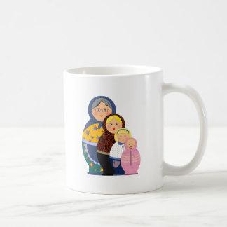 Russian Doll Matryoshka Life Stages Colorful Cute Coffee Mug