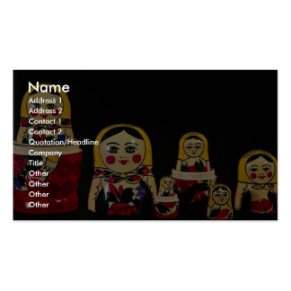 Russian doll set, traditional Russian wooden paint Business Card Template