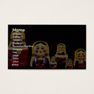 Russian doll set, traditional Russian wooden paint Business Card
