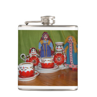 Russian Doll Tea Time Hip Flask