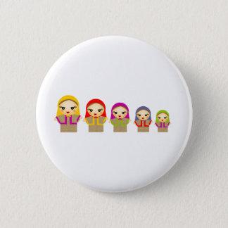 Russian Dolls 6 Cm Round Badge