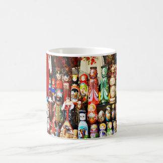 Russian dolls basic white mug