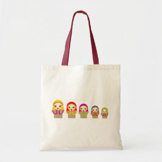 Russian Dolls Budget Tote Bag