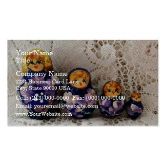 Russian dolls business card templates