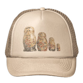 Russian Dolls Mesh Hats