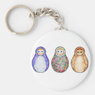 Russian dolls key chain