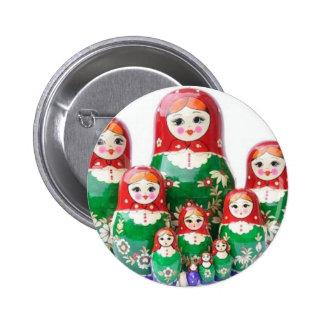 Russian Dolls Matryoshka - матрёшка 6 Cm Round Badge