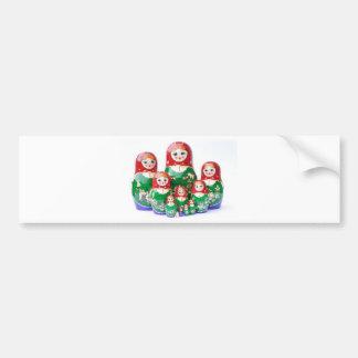 Russian Dolls Matryoshka - матрёшка Bumper Sticker