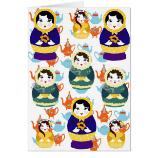 Russian dolls quirky Christmas card