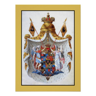 Russian Empire, Full coat of arms Poster