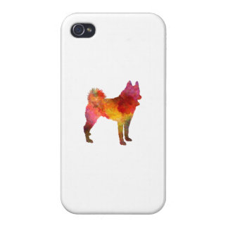 Russian European Laika in watercolor iPhone 4 Cases