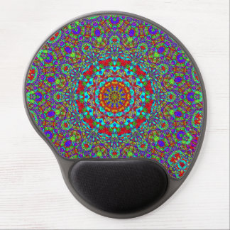 Russian Fairytale Illustration Based Pattern Gel Mouse Pad