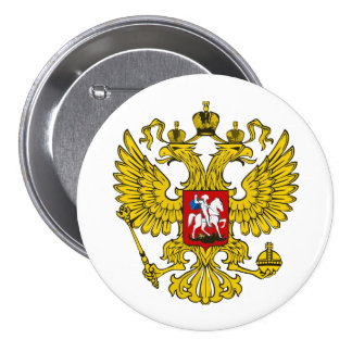 Russian Federation Coat of Arms 7.5 Cm Round Badge
