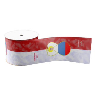 Russian Federation Flag Angel Blond Hair Red White Grosgrain Ribbon
