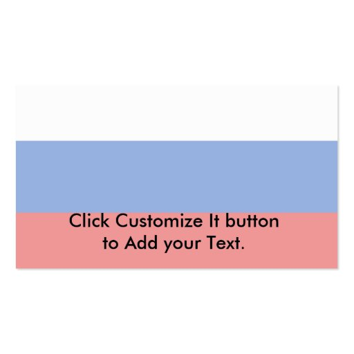 Russian Federation, Russia flag Business Card Templates