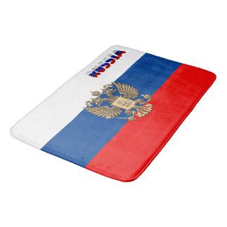 Russian flag bath mat