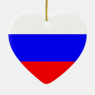 Russian Flag Ceramic Heart Decoration