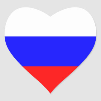Russian Flag Heart Sticker