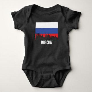 Russian Flag Moscow Skyline Baby Bodysuit