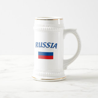 Russian Flag 18 Oz Beer Stein
