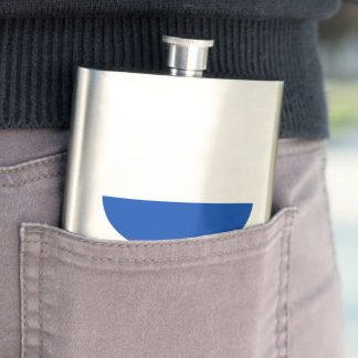 Russian Flag on a cloudy background Hip Flasks