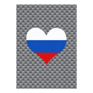 "Russian Flag on a cloudy background 5"" X 7"" Invitation Card"