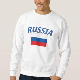 Russian Flag Pull Over Sweatshirt