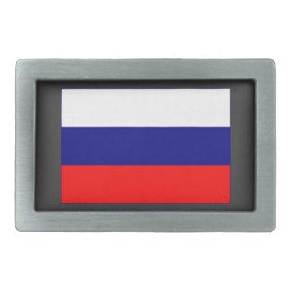 Russian Flag Rectangular Belt Buckles