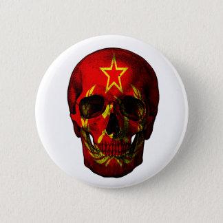 Russian flag skull 6 cm round badge