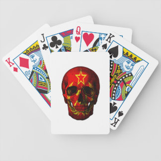 Russian flag skull bicycle playing cards