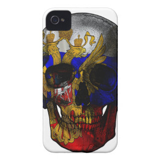 Russian flag skull Case-Mate iPhone 4 cases