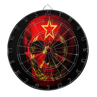 Russian flag skull dartboard