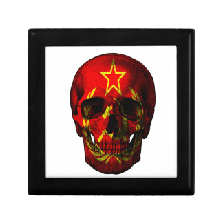 Russian flag skull gift box