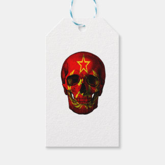 Russian flag skull gift tags