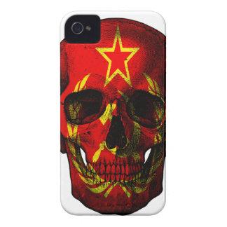 Russian flag skull iPhone 4 case
