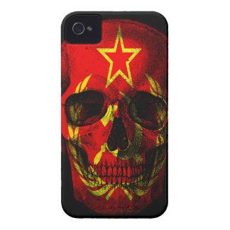 Russian flag skull iPhone 4 Case-Mate case