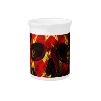 Russian flag skull pitcher