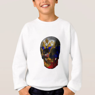 Russian flag skull sweatshirt
