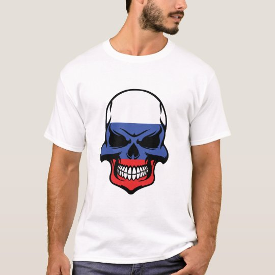 Russian Flag Skull T-Shirt