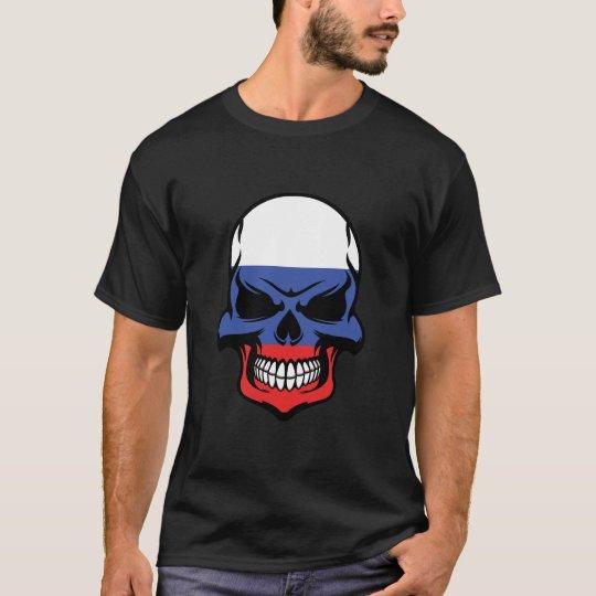 Russian Flag Skull T-Shirt