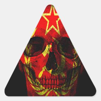Russian flag skull triangle sticker