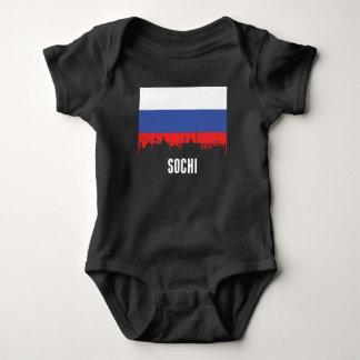 Russian Flag Sochi Skyline Baby Bodysuit