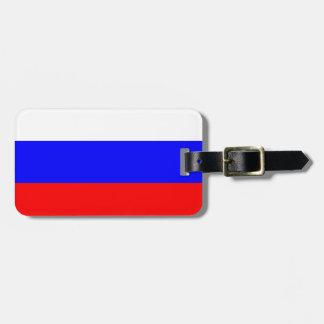 Russian Flag Travel Bag Tag
