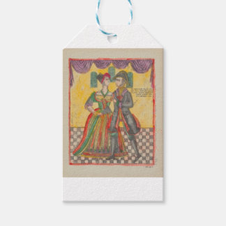 RUSSIAN FOLK ART DANCERS GIFT TAGS