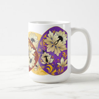 Russian Folk Art Decorated Eggs 2 Classic White Coffee Mug
