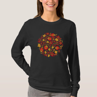 Russian Folk Art Khokhloma Woman T-shirt