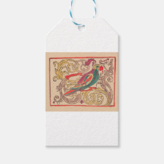 RUSSIAN FOLK ART ROOSTER GIFT TAGS